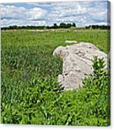 Rocks In A Tall Grass Prairie In Pipestone National Monument-minnesota Canvas Print