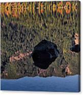 Rocks In Crescent Lake Canvas Print