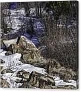 Rocks In Snow Canvas Print