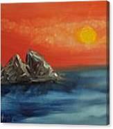 Rocks In The Flathead Lake Canvas Print
