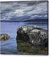 Rocks In The Water On A Lake In Acadia National Park Canvas Print
