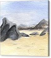 Rocks On Beach Canvas Print