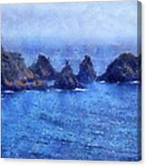 Rocks On Isle Of Guernsey Canvas Print