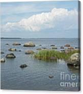 Rocks On The Baltic Sea Canvas Print