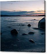Rocks At A Shore Canvas Print