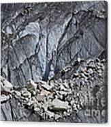 Rocks Resting On The Ghulkin Glacier Canvas Print