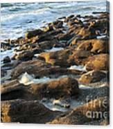 Rocky Beach At Sunrise Canvas Print