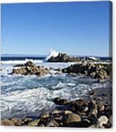 Rocky Beach On 17 Mile Drive Canvas Print