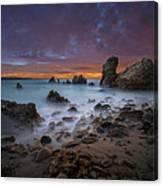 Rocky California Beach - Square Canvas Print
