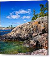 Rocky Coast And Clear Water Of Lake Superior Canvas Print