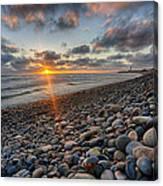 Rocky Coast Sunset Canvas Print