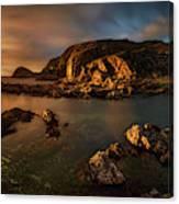Rocky Coastline At Sunset, Point Canvas Print