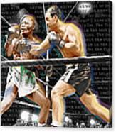 Rocky Marciano V Jersey Joe Walcott Quotes Canvas Print
