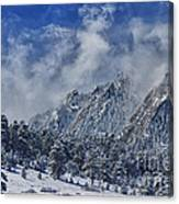 Rocky Mountain Dusting Of Snow Boulder Colorado Canvas Print