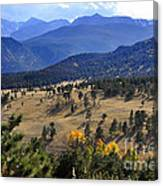 Rocky Mountain Evening Canvas Print