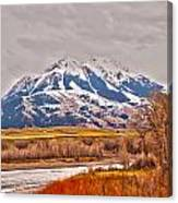 Rocky Mountains In Montana Canvas Print