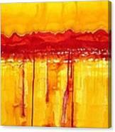 Rocky Mountains Original Painting Canvas Print