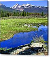 Rocky Mountains River Canvas Print