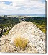 Rocky Outcrops Of Trotters Gorge Otago Nz Canvas Print