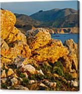 Rocky Point And Bixby Bridge Big Sur California Canvas Print