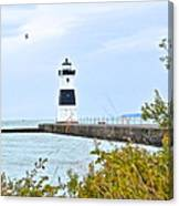 Rocky River Pier Canvas Print
