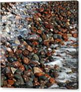 Rocky Shoreline Abstract Canvas Print
