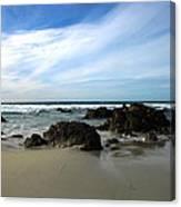 Rocky Shoreline At Spanish Bay Canvas Print