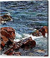 Rocky Shoreline - Coast -  Painterly Effects -  Panorama Canvas Print