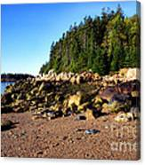 Rocky Shoreline Deer Isle Maine Canvas Print