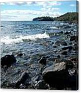 Rocky Shores Of Superior Canvas Print