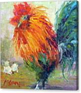 Rocky The Rooster Canvas Print