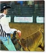 Rodeo Cowboy Referee Canvas Print