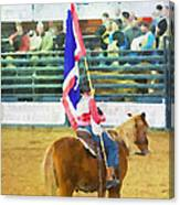 Rodeo Flag Canvas Print