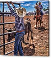 Rodeo Gate Keeper Canvas Print