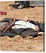 Rodeo Gunslinger Victim Color Canvas Print