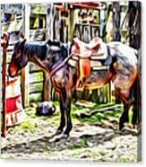Rodeo Horse Three Canvas Print