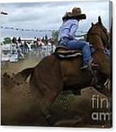 Rodeo Ladies Barrel Race 1 Canvas Print