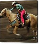 Rodeo Riding A Hurricane 2 Canvas Print