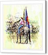 Rodeo Time In Colorado Canvas Print