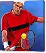 Roger Federer The Swiss Maestro Canvas Print