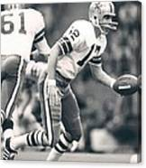 Roger Staubach Passing The Ball Canvas Print