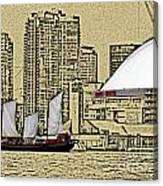 Roger's Centre And Tall Ship Canvas Print