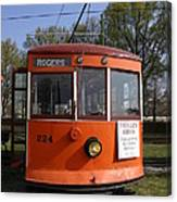 Rogers Trolley Canvas Print