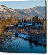 Rogue River Winter Canvas Print