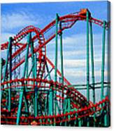 Roller Coaster Painting Canvas Print