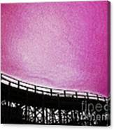 Rollercoaster In Pink Canvas Print