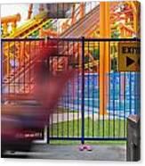 Rollercoasters At Amusement Park Canvas Print