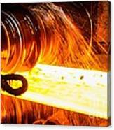 Rolling A Rail At A Steel Mill Canvas Print