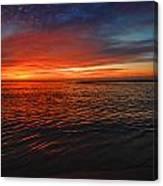 Rolling Sunrise Colors Canvas Print