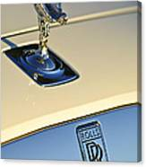 Rolls-royce Hood Ornament 3 Canvas Print